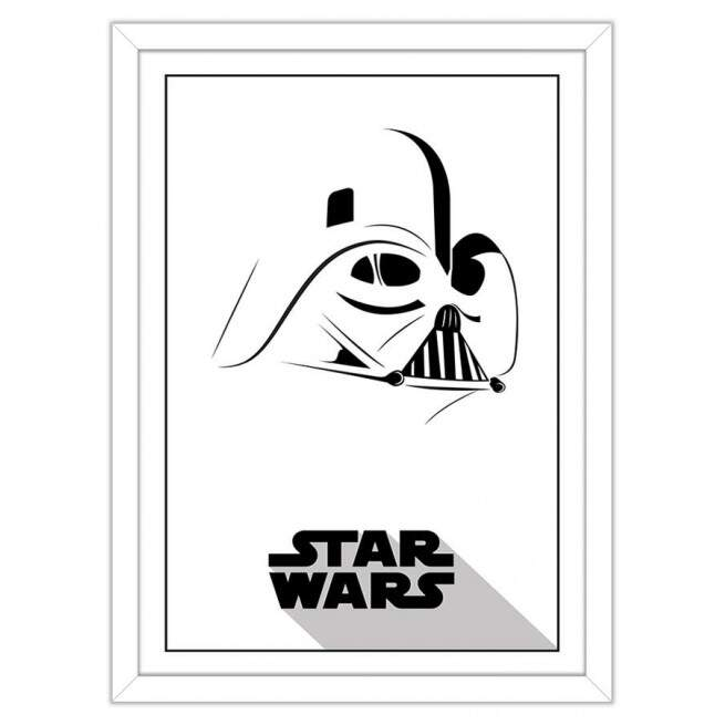 Quadro Decorativo Geeks Darth Vader Minimalist