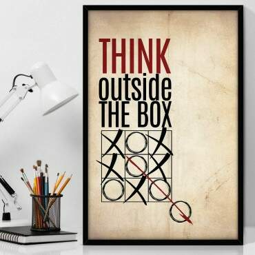 Quadro Decorativo Com Moldura Geeks Think Outside The Box