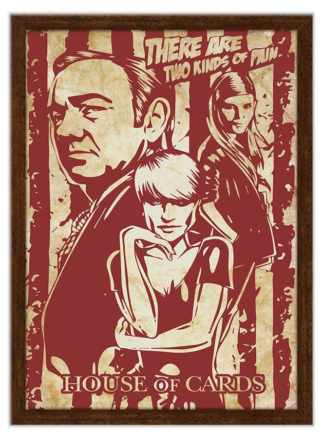 Quadro Decorativo Geeks House of Cards