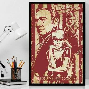 Quadro Decorativo Com Moldura Geeks Seriado House of Cards