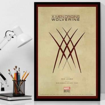 Quadro Decorativo Com Moldura Geeks X-Men Origins Wolverine