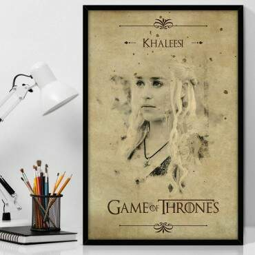 Quadro Decorativo Com Moldura Geeks Game Of Thrones Daenerys