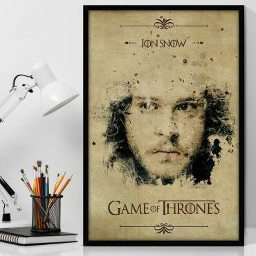 Quadro Decorativo Com Moldura Geeks Game Of Thrones Jon Snow