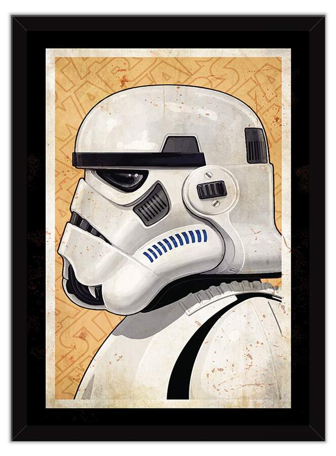 Quadro Decorativo Geeks Star Wars Perfil