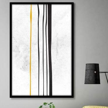 Quadro Decorativo Com Moldura Abstrato Tinta Escorrendo