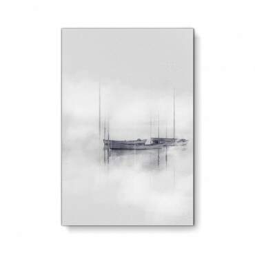 Quadro Decorativo Abstrato Barcos