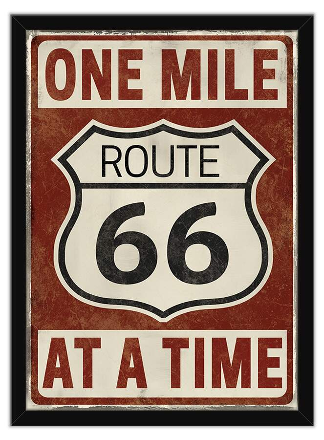 Quadro Decorativo Rock Route 66 One Mile