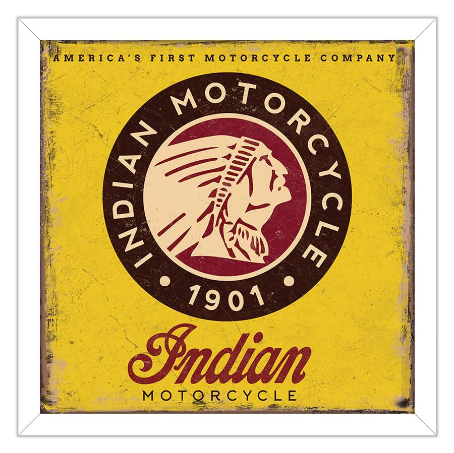 Quadro Decorativo Motor Indian Motorcycles Logo