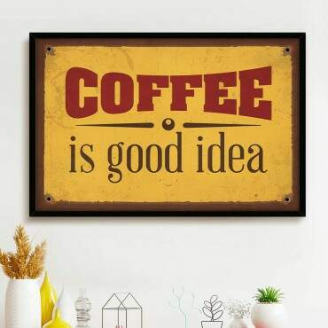 Quadro Decorativo Com Moldura Frases Coffee Is Good Idea