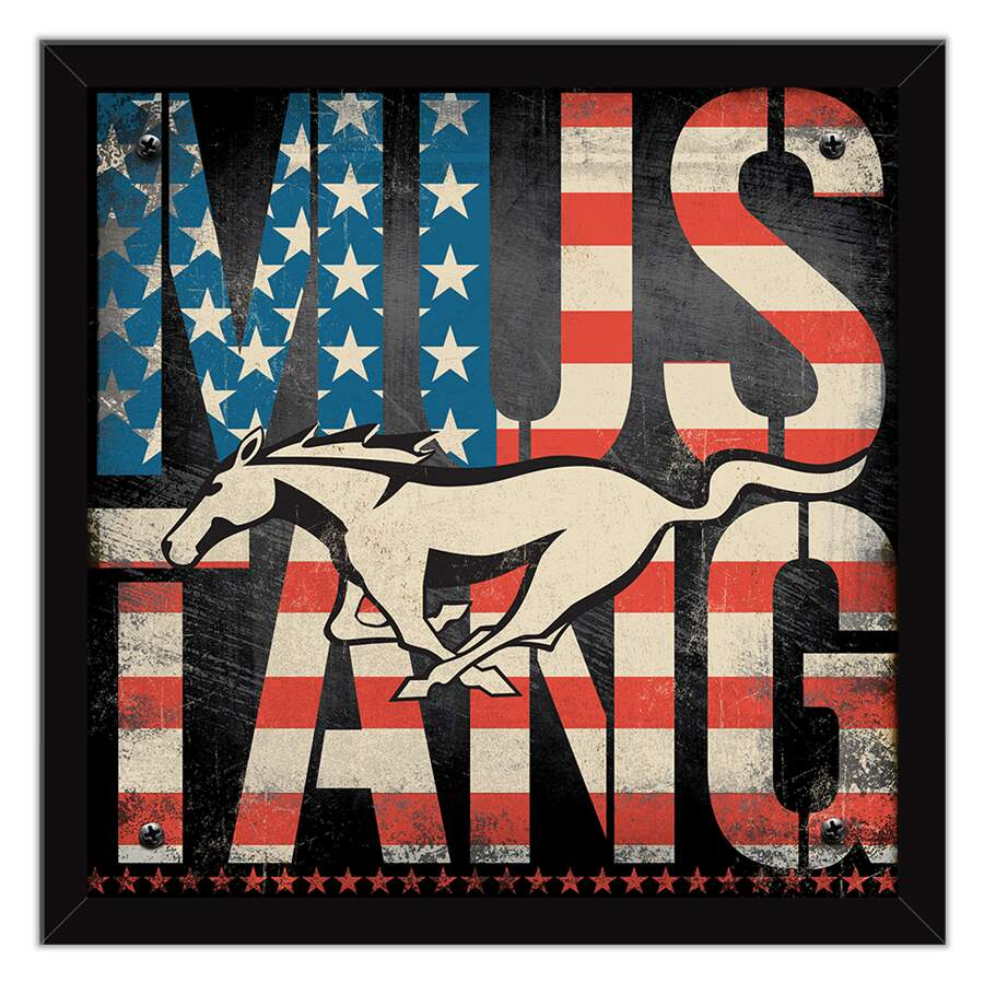 Quadro Decorativo Moto Mustang USA