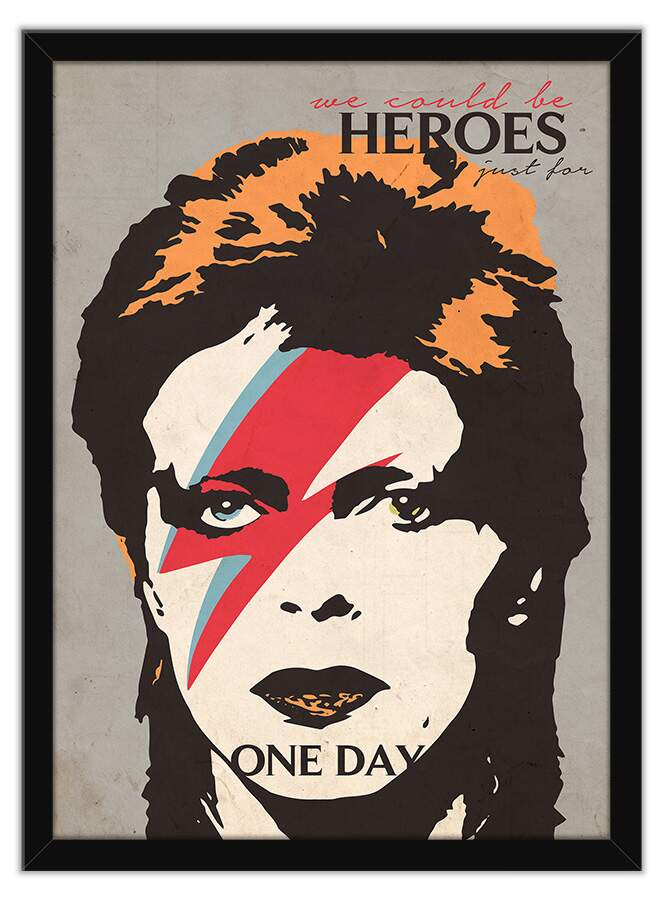 Quadro Decorativo - David bowie we could be heroes