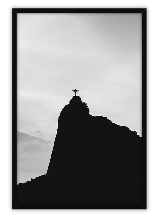 Quadro Decorativo Com Moldura Natureza Morro do Corcovado