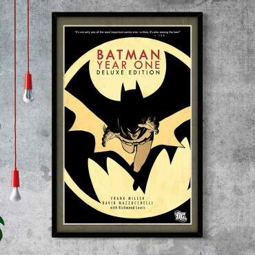 Quadro Decorativo Com Moldura Gibis Batman Year One Edition