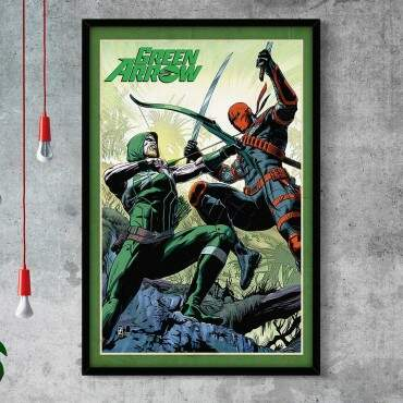 Quadro Decorativo Com Moldura Gibis Quadrinhos Green Arrow