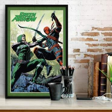Quadro Decorativo Geeks Quadrinhos Green Arrow