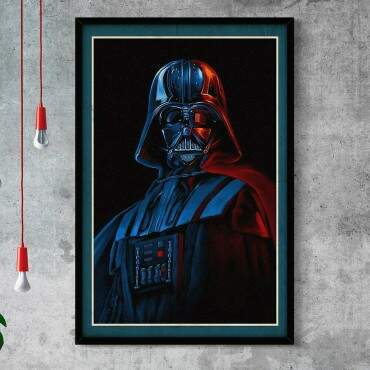 Quadro Decorativo Com Moldura Gibis Darth Vader Star Wars