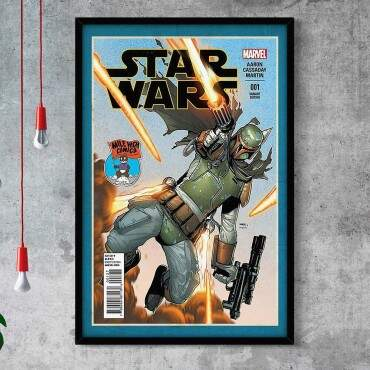 Quadro Decorativo Com Moldura Gibis Star Wars Mile High