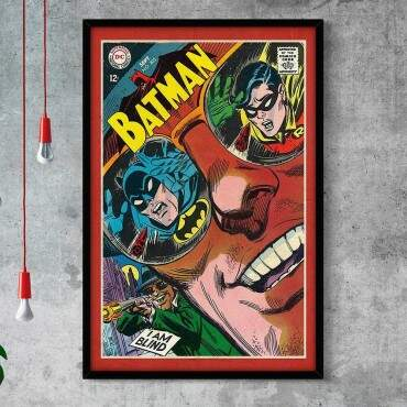 Quadro Decorativo Com Moldura Gibis Batman Approved By Comic