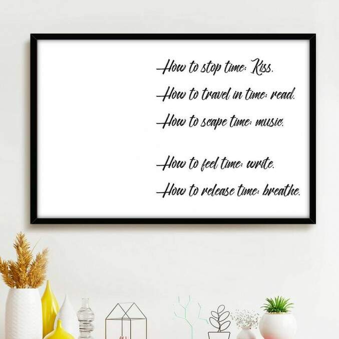 Quadro Decorativo Com Moldura Frases How To Minimalista