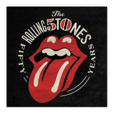 Quadro Decorativo Rolling Stones 50years