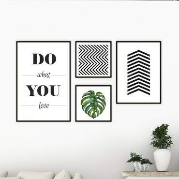 Quadro Decorativo Composição do What You Love