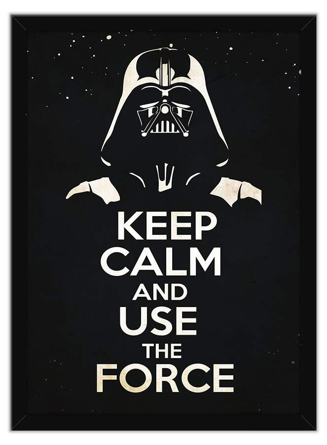 Quadro Decorativo Frases Keep Calm And Use The Force