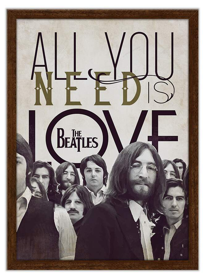 Quadro Decorativo Frases All You Need Is Love