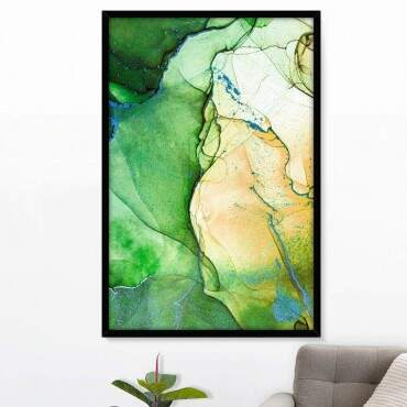 Quadro Decorativo Com Moldura Color Prime Tons de Verde
