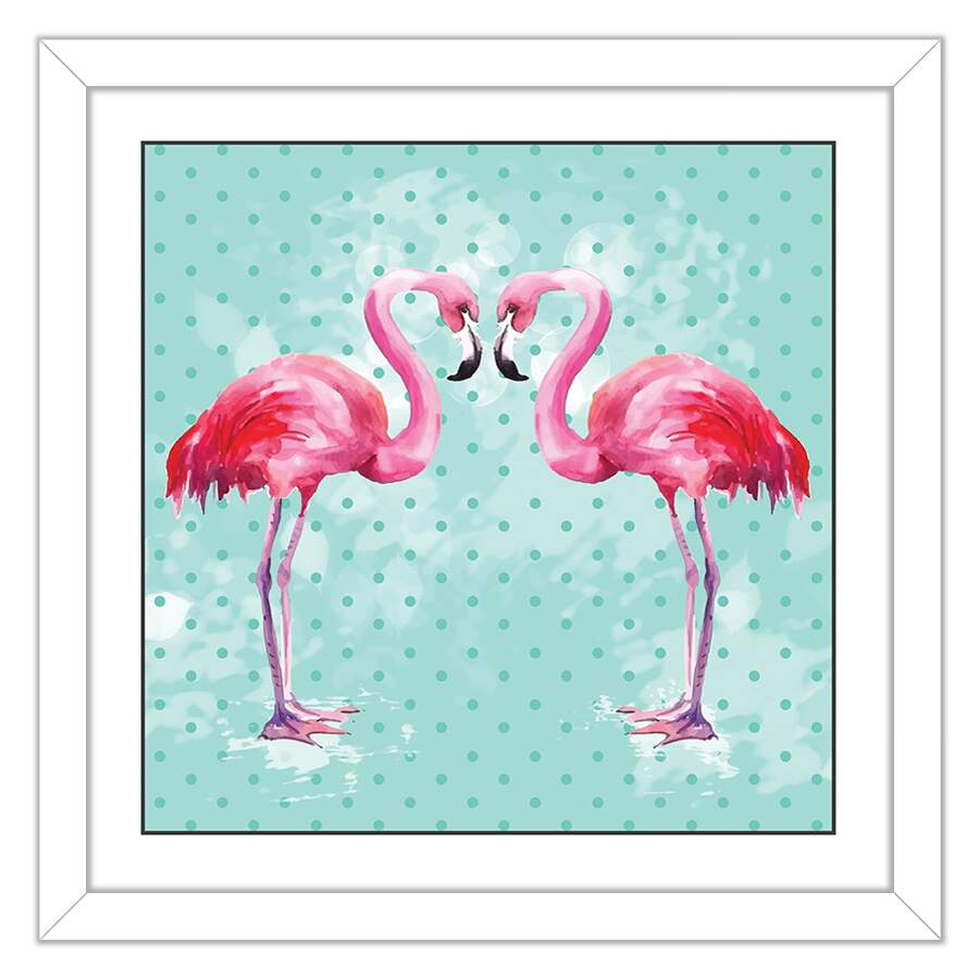 Quadro Decorativo Infantil Flamingo