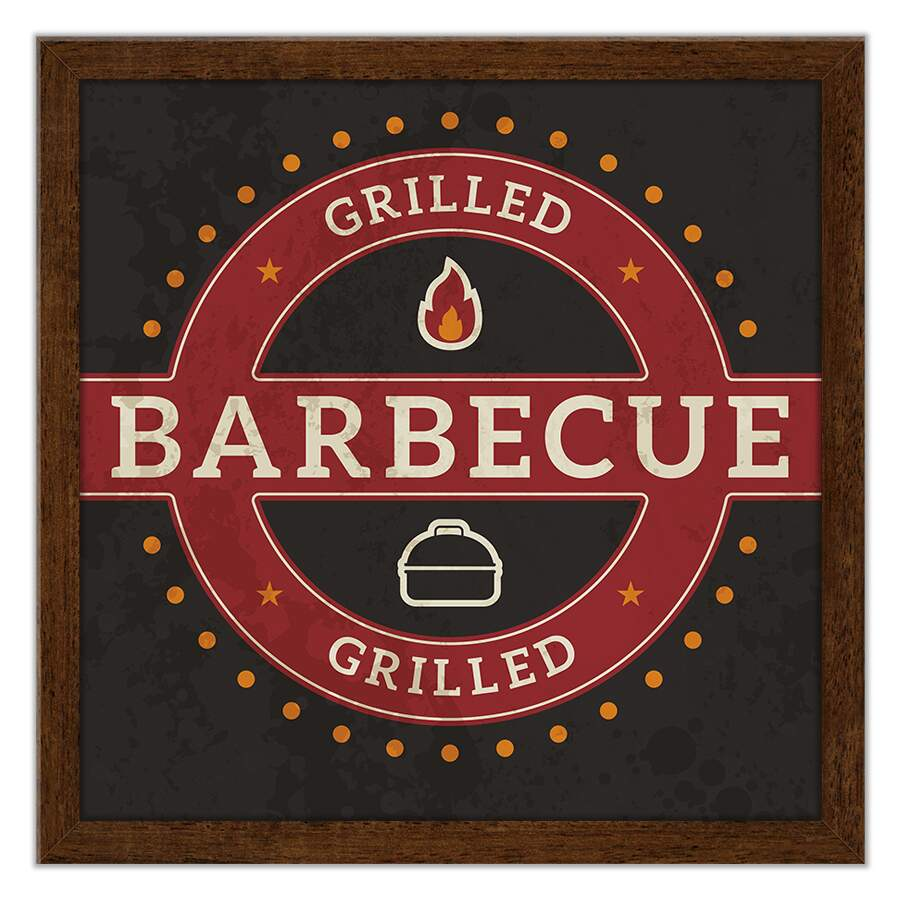Quadro Decorativo Gourmet Grilled Barbecue