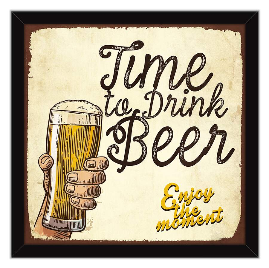 Quadro Decorativo Gourmet Time to Drink Beer