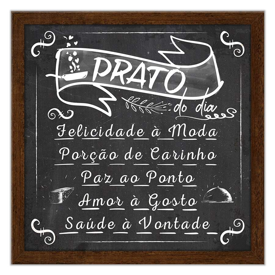 Quadro Decorativo Gourmet Prato do Dia