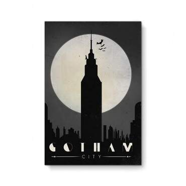 Quadro Decorativo Geeks Gotham City
