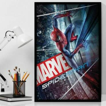 Quadro Decorativo Com Moldura Geeks Marvel - Spider-Man City