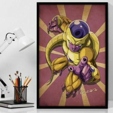 Quadro Decorativo Com Moldura Geeks Dragon Ball - Freeza
