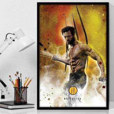 Quadro Decorativo Com Moldura Geeks Wolverine Wallpaper