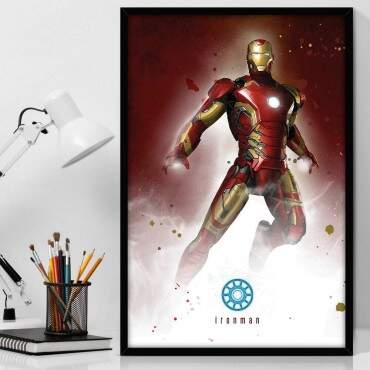 Quadro Decorativo Com Moldura Geeks Iron Man Wallpaper