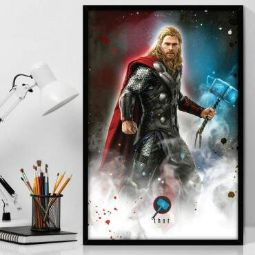 Quadro Decorativo Com Moldura Geeks Marvel - Thor Wallpaper