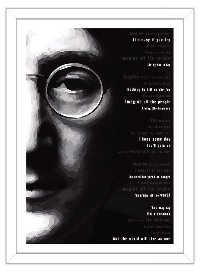 Quadro Decorativo John Lennon Imagine