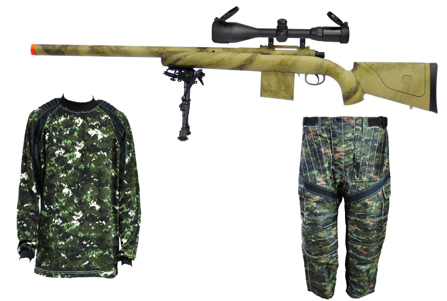 RIFLE DE AIRSOFT SNIPER APS APM 40 KIT 550FPS