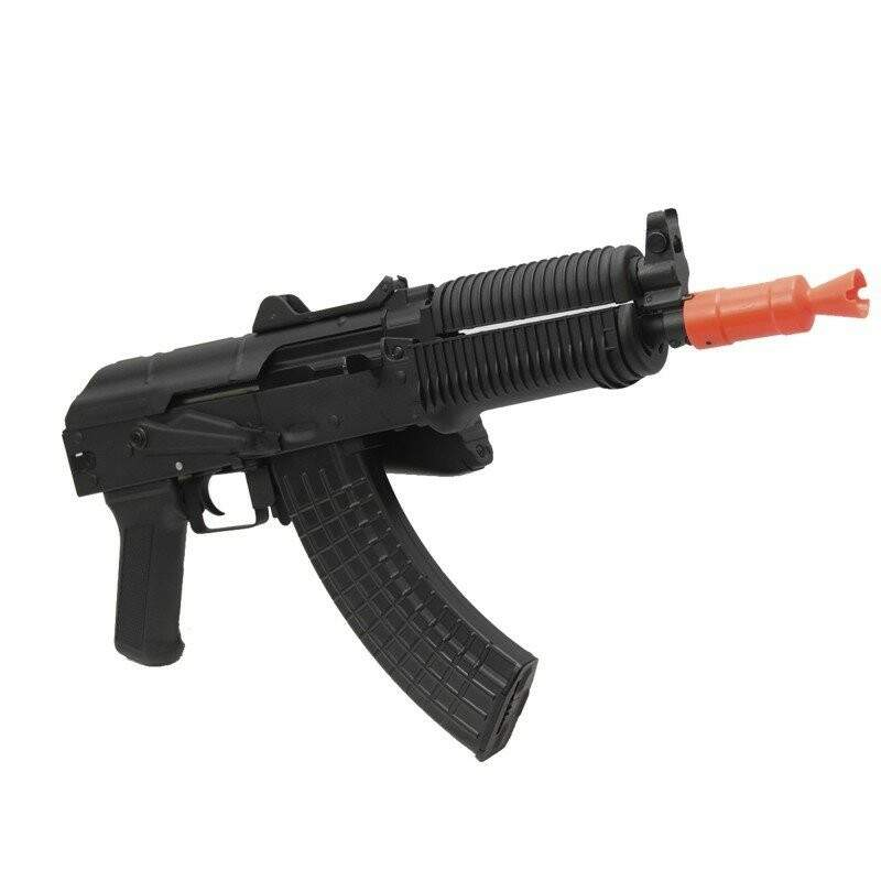 AEG RIFLE DE AIRSOFT ELETRICO AK47 CQB FULL METAL SRL107