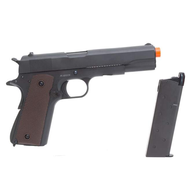 Airsoft 1911 DOUBLE BELL  - FULL METAL - GREEN GAS - Blowback