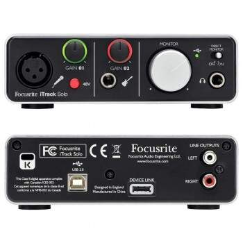 Interface de Áudio Focusrite iTrack Solo Compatível Com iPad
