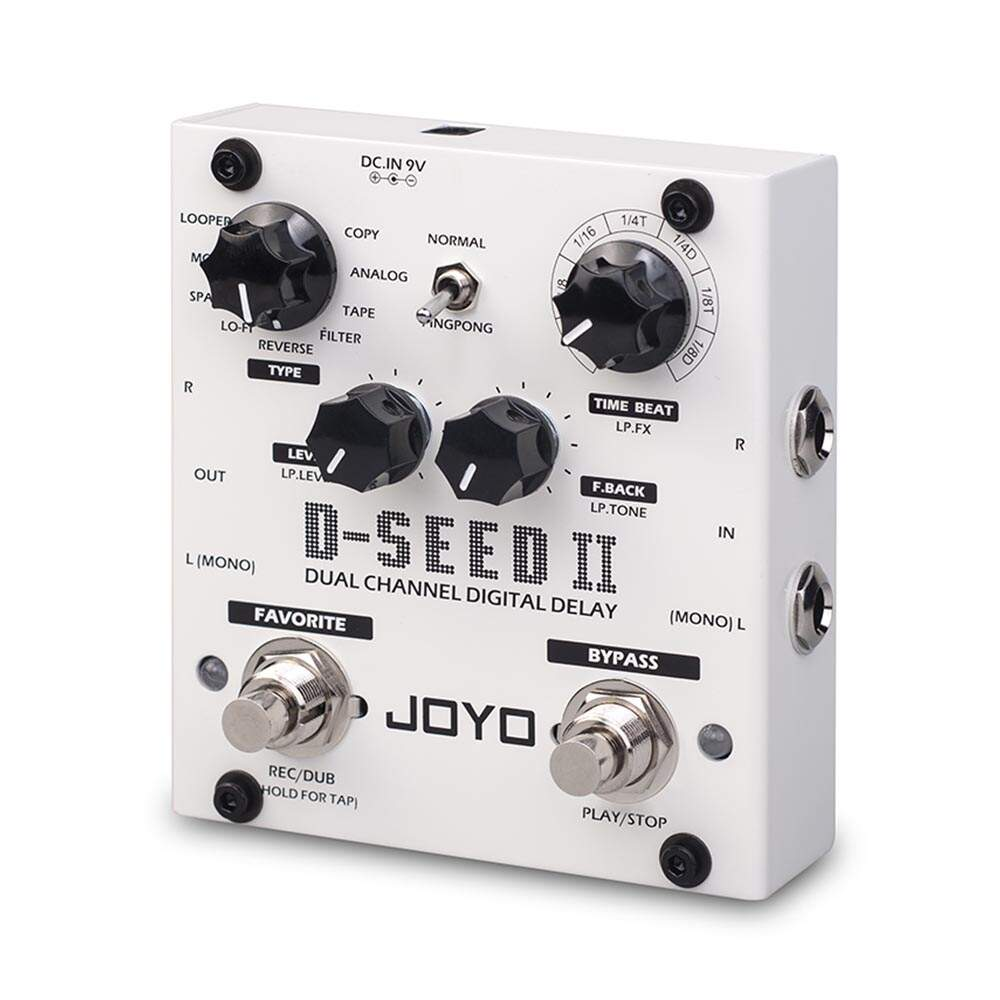 Pedal Joyo D-Seed 2 Dual Channel Digital Delay Com Looper