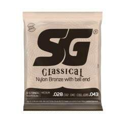 Encordoamento Violão Nylon Sg 028 - 043 Bronze C/ Ball End