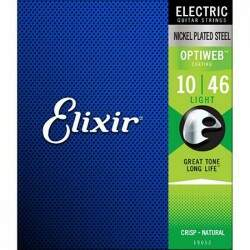 Encordoamento Guitarra Elixir 010 046 Optiweb Light
