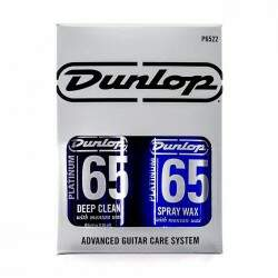 Kit Dunlop 65 Platinum Spray Wax, Deep Clean e Flanela