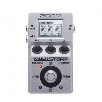Pedal Zoom Ms-50G Multistomp Para Guitarra Com 100 Efeitos