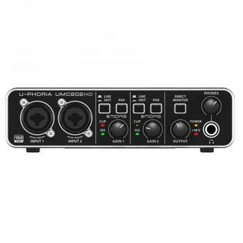 Interface De Áudio Behringer Umc202Hd U-Phoria Midas Usb 2.0
