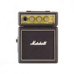 Mini Amplificador Para Guitarra Marshall Ms-2 Preto